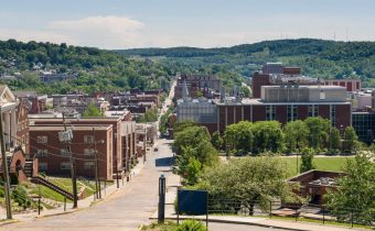 Photo of main street (High Street) in Morgantown, WV