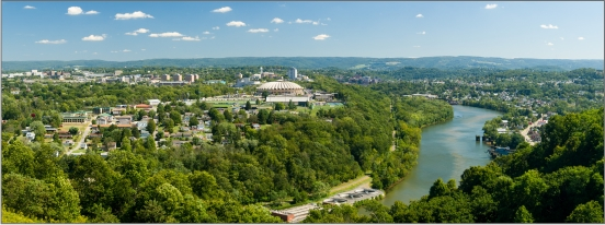Panorama of greater Morgantown, WV